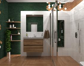 Bathroom 10 3D model low-poly