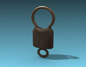 Old Lock 3D model game-ready
