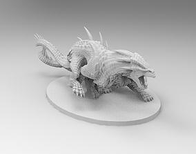miniature 3D print model Two dragons