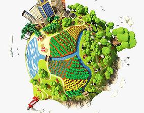 planet 3D Cartoon Planet Summer