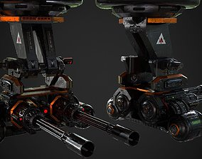 3D model Turret PBR Game Ready