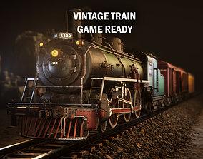 Vintage train 3D model