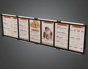 Fast Food Menu Overhead 02 - SAM - PBR Game Ready 3D model
