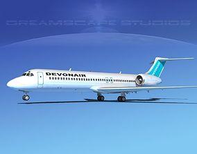 3D model Boeing 717-200 Devonair