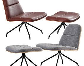 3D model Mad - Bloom Upholstered Duet Lounge