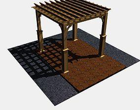 3D model Pergola 4 Freestanding