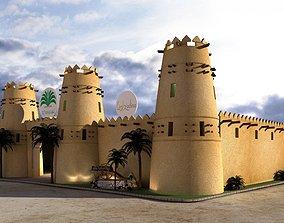 3D Arabian heritage castle