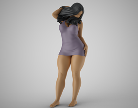 3D printable model Woman at Balcony