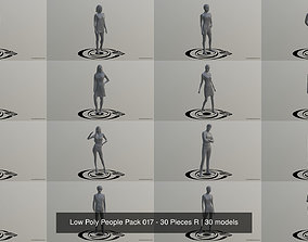 3D model Low Poly People Pack 017 - 30 Pieces R