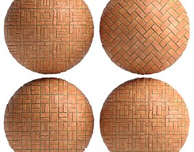Materials 7- Brick Tiles PBR in 4 Patterns 3D model