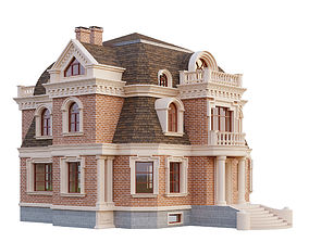 wall 3D brick house