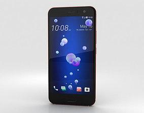 HTC U11 Solar Red 3D model