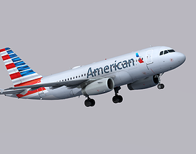 Airbus A319 American Airlines 3D asset