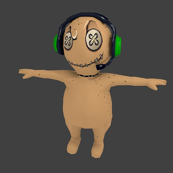 Low Poly Voodoo doll