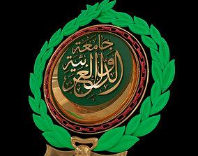 3D Arab League Logo