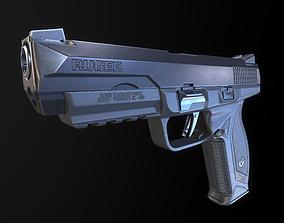 Ruger American Pistol Duty 45 acp 3D asset