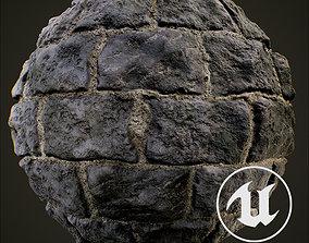 3D model Medieval castle stonewall
