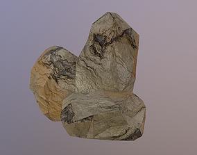 Low Poly Sand Rocks 3D model