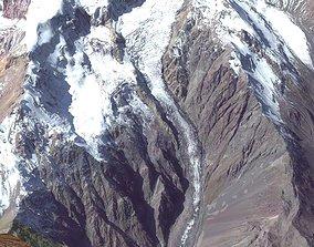 3D Mount Kazbek 5037 meters Georgia