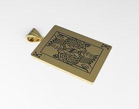 3D printable model Playing card King pendant