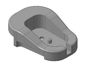 Chock the pistol grip AK 47 3D print model