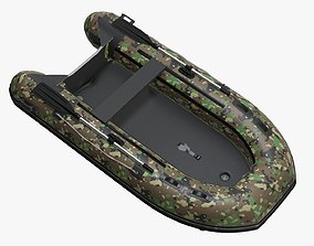 Boat inflatable 02 camouflage 3D