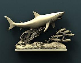 Shark 3d stl model for cnc