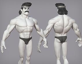 3D model Cartoon male character Karl base mesh