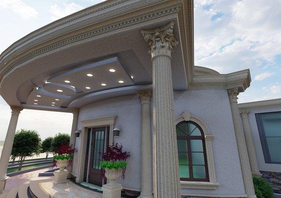 Classic domestic building exterior design