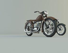 BSA BantamD1 motorcycle 3D model