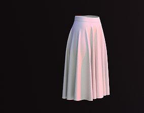 3Types Flared Skirt 3D