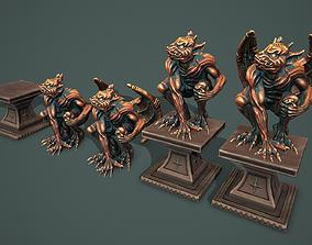 Statue gargoyle 3D asset low-poly
