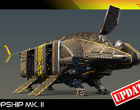3D model animated Dropship Mk II PBR