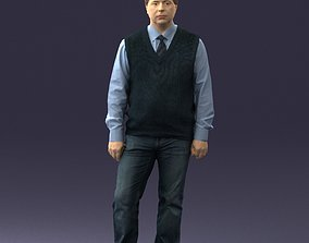 Man sleeveless jacket and jeans 0511 3D Print Ready