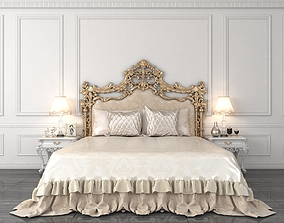 3D model European Style Bed 3