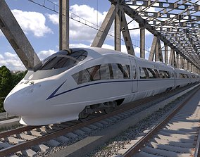 Hi-speed Electric Train Siemens Velaro CRH China 3D