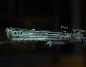 3D Futuristic Sniper Rifle