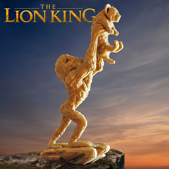 The Lion King 3D Printable Model
