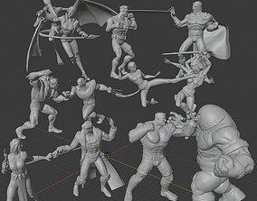 3D print model X-MEN DIORAMA X-MEN VS THE BROTHERHOOD