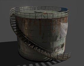 3D model Lowpoly oil tank