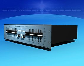 3D rigged Klark Teknik DN22 Graphic Equalizer
