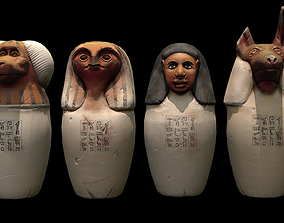 3D model Canopic jars from Ancient Egypt