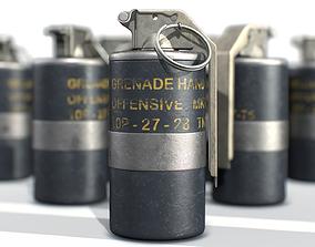 3D American Frag hand grenade MK3