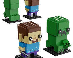 3D model Lego BrickHeadz - 41612 Steve and Creeper