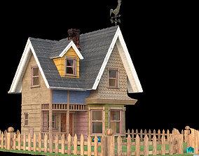 3D asset low-poly Pixar Up - Toon House