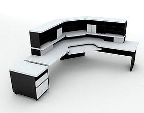 3D asset Office Computer Desk Workstation 2