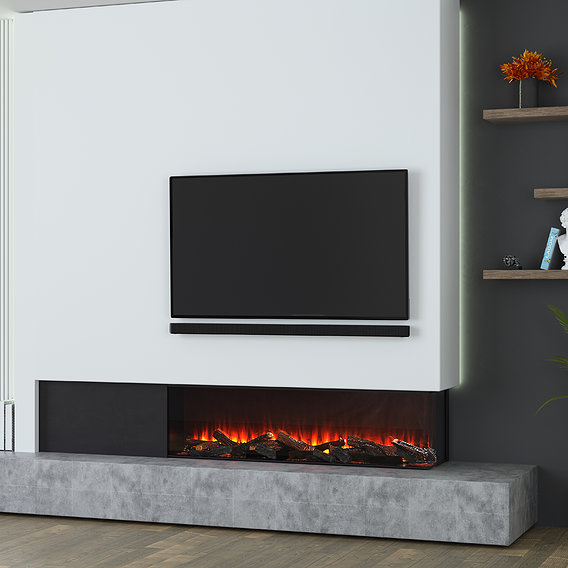 Commercial project for an electric fireplace company