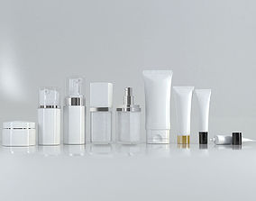 3D Cosmetic Bottle and Tube Set