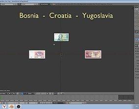 3D Bosnia - Croatia and SFRJ paper-money