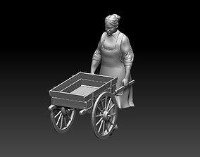 3D printable model woman girl